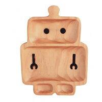 プチママントレイロボット乳児用食器木製出産祝い
