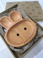 プチママントレイラビット乳児用食器木製出産祝い
