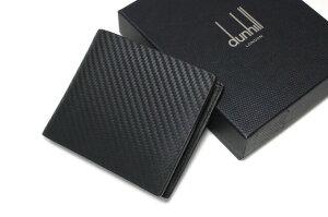 DUNHILLダンヒルCHASSISシャーシL2H232A二つ折り財布(小銭入れあり)ブラックdunhillメンズ革レザー