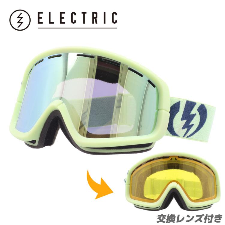 スキー・スノーボード用アクセサリー, ゴーグル ELECTRIC EG1012400 GGDC EGB2 ALLIED GREENGREYGOLD CHROME GOGGLE UV