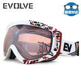 イヴァルブ ゴーグル ミラーレンズ アジアンフィット EVOLVE EVG 1019 全2カラー ユニセックス メンズ レディース スキーゴーグル スノーボードゴーグル スノボ