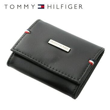 【訳あり】トミーヒルフィガー 財布 TOMMY HILFIGER コインパース コインケース 小銭入れ 0096-5321/01 (31TL25X025-001)ブラック 財布 ウォレット サイフ レザー(革) メンズ 男性 トミー シンプル ワケあり 難あり