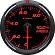 デフィ メーター レーサーゲージ (Racer Gauge) Φ60 レッド 圧力計 (油圧計・燃圧計) 送料無料
