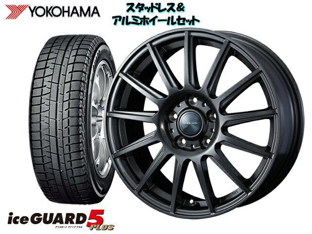 タイヤ・ホイール, スタッドレスタイヤ・ホイールセット YOKOHAMA ice GUARD5IG50 17565R14 VELVA IGOR 14 x 5.5 1004H 38 GD6