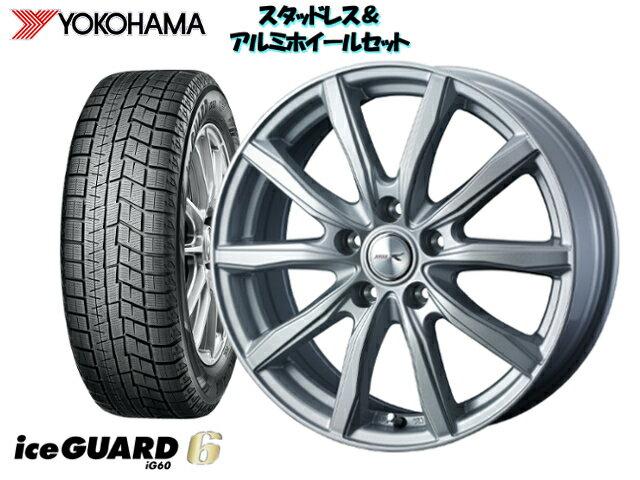 タイヤ・ホイール, スタッドレスタイヤ・ホイールセット YOKOHAMA ice GUARD6 IG60 22555R17 JOKER SHAKE 17 x 7.0 114.35H 40 Y50
