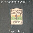 【P5倍+最大10%OFFクーポン】WOOD STICKER Forget adulting ...