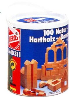 含HEROS 1031筒的積木白木