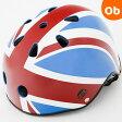 【送料無料】ロンドンタクシー ヘルメット Flag 通学・通園 頭部保護 乗り物