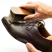 靴ブラシドイツブラシデラックス靴磨き用ホースヘアブラシ馬毛100%ほこり落とし用