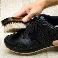 ドイツブラシデラックス小(馬毛・仕上げ用)靴磨き用ホースヘアブラシほこり落とし用靴ブラシ