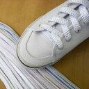 シューレース 靴紐 アクリル 120cm 白ラメ 平紐 スニーカー ひも