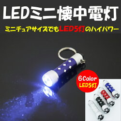 【レビューでメール便送料無料】LED5灯ミニ懐中電灯