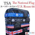 【ネコポスは送料無料】TSAロック付きスーツケースベルトかっこよく、目立つデザインで、自分のスーツケースの目印にも最適です!ルート66 Route66 アメリカ旅行 イギリス国旗 星条旗 ユニオンジャック【RCP】