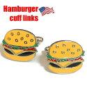 【ネコポスは送料無料】ハンバーガーデザインカフスボタンカフスリンクスカフリンクス
