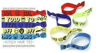 Kitsch(kitchu)Social Savvy微笑花紋頭髮配飾5瓶一套/頭髮橡膠/手鐲/Hair Ties02P28Sep16