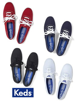 Keds帆布運動鞋女士(Keds)女子的運動鞋/帆布鞋/白&深藍&黑色&紅(CHAMPION ORIGINALS)02P28Sep16)