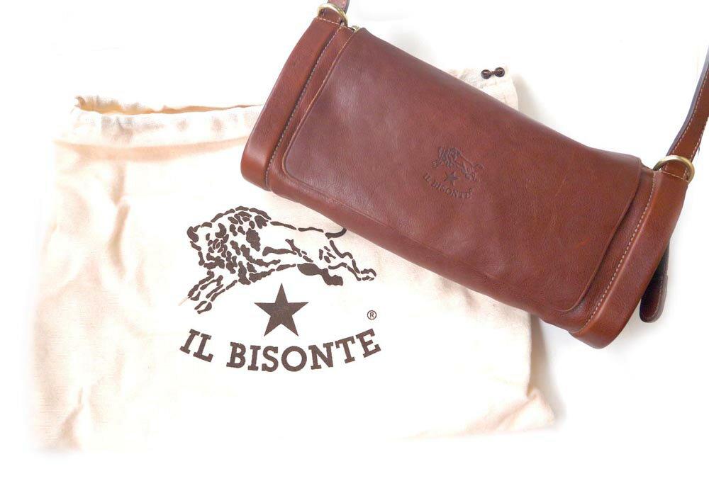 イルビゾンテ(Il Bisonte)レザーショルダーバッグ/本革斜めがけバッグ/ポシェット/A1464/2019年新入荷モデル【あす楽対応_関東】