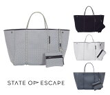 State of Escape(ステイトオブエスケープ)ESCAPE BAG/トートバッグ ポーチ付き/ネオプレンバッグ/マザーズバッグ/ブラック/グレー/ホワイト【あす楽対応_関東】