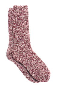 ベアフットドリームス(BarefootDreams)Cozychic靴下/ニットソックス/コージーシックソックス(バーガンディー×ホワイト)【正規品】【あす楽対応_関東】02P28Sep16【楽ギフ_包装】【あす楽_土曜営業】