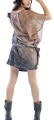 送料無料!【最終セール!】gypsy05(ジプシー05)シルクベルテッドドレス/ミニワンピース(ブ...