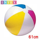 INTEXビーチボール61cm定番カラー大きくて楽しいよ海やプールに!【クロネコDM便は送料無料】
