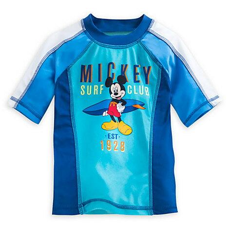 Disneyミッキーマウスラッシュガード半袖男の子用水着半袖ラッシュガード、子供キッズベビー半袖【クロネコDM便は送料無料】