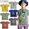 F.O.KIDS(エフオーキッズ)ミッキーTシャツ半袖キッズベビー男の子女の子子供服トップス兄弟お揃い姉妹お揃いリンクコーデ夏2021ジュニアディズニーミッキーマウス