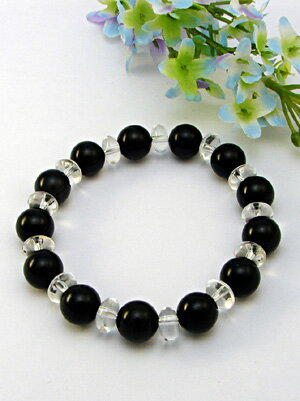 Black tourmaline 10 mm bracelet