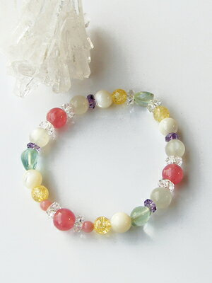 """""""Special thanks price: love and marriage guide mix stone bracelet"""