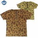 TシャツBuzzRickson's/バズリクソンズビンテージスラブヘンリーネックTシャツ「フロッグスキンパターン」2カラーS・M・Lサイズメンズ【MadeInJAPAN.】【あす楽】