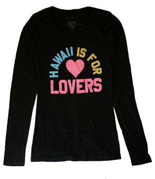 キャメロンハワイ(Cameron Hawaii)Hawaii Lovers長袖ロングTシャツ/ブラック【あす楽対応_関東】