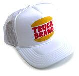 トラックブランド(TruckBrand)ハンバーガーショップ柄Hungryメッシュキャップ/ホワイト【あす楽対応_関東】