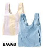 BAGGU(バグゥ)コットンエコバッグ/キャンバスショッパーバッグ/MediumBaggu/デニム、ストライプ/バグー【あす楽対応_関東】