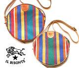 イルビゾンテ(Il Bisonte)キャンバスショルダーバッグ/ラウンド型ポシェット/L1215RI【あす楽対応_関東】