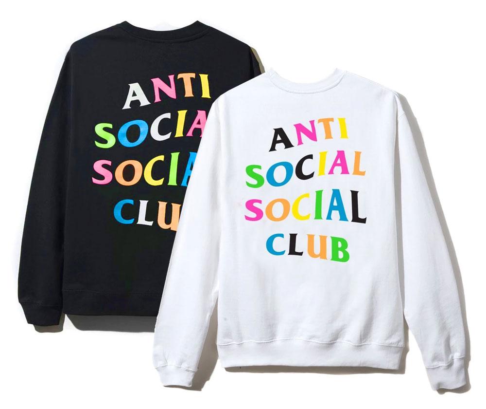 トップス, スウェット・トレーナー (ANTI SOCIAL SOCIAL CLUB) ASSC Rainbow Crewneck