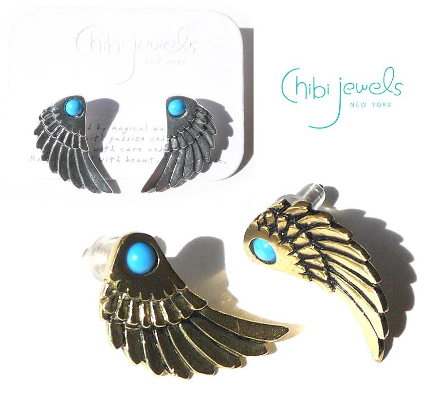 レディースジュエリー・アクセサリー, ピアス Chibi JewelsSeraph Wing Stud EarringsE229