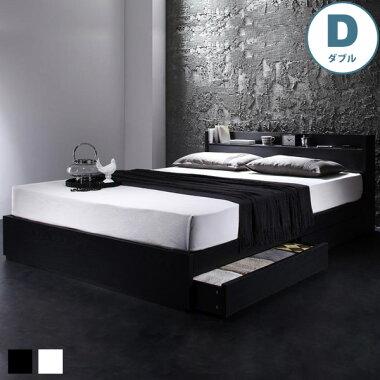 モノトーンな色使いがモダンを表現する、コンセント付き収納ベッド、ヴェガ
