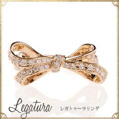 K18ゴールド×ダイヤモンド「レガトゥーラ」リング★0.5ctUP【送料無料】18k【18金】0.5st【パ...