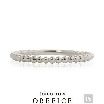Pt950プラチナ×「カトレア」リング 指輪★ ピンキー 地金 レディース オレフィーチェ