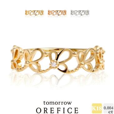 K18ゴールド×ダイヤモンド「アドラー」 リング 指輪 0.004ct 18K K18 18金 ゴールド ダイヤ ダイヤモンド オレフィーチェ orefice