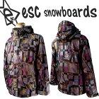 esc(イーエスシー)スノーボードウェアスキー・スノボ用▼ジャケット(男女兼用用)ESW3301conpositeRED柄