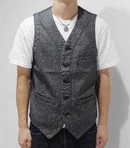 JAPANBLUEジャパンブルーノーカラー|アーバンベスト『10oz撚り杢ツイルVEST』【アメカジ・ワーク】J42470J01(Vest)