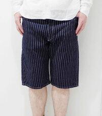 SUGARCANEFICTIONROMANCE飾りステッチを施したウォバッシュショーツ!!『9oz.WABASHZIPFLYSTRIPESHORTS』【アメカジ・ワーク】SC51443(Shorts)