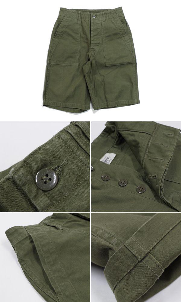 BUZZRICKSON'S バズリクソンズ コットンサテン ベイカーショーツ『SHADE 107.TYPE I,CLASS SHORTS』【アメカジ・ミリタリー】BR51735(Shorts)