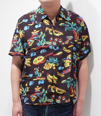 トップス, カジュアルシャツ Mr.FREEDOMSUN SURF ROCKN ROLL SHIRT YUCATANSC38090(Aloha)(Short sleeve shirt)