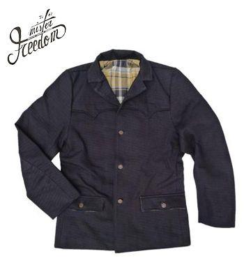 メンズファッション, コート・ジャケット SUGAR CANEMr.FREEDOM TRUCKSTOP Made in JAPAN16oz. MIDNIGHT DENIM PIONEER BLAZERSC14745
