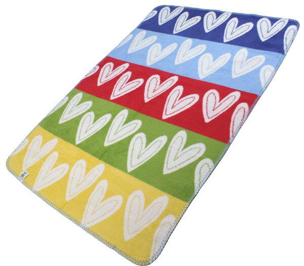 オーガニックコットンベビー用綿毛布HerzileinBunt(出産祝いブランケット出産準備プレゼントギフトひざ掛け新生児ベビー寝具)