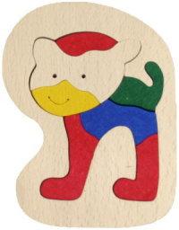 木製はめこみパズル マグネット付き