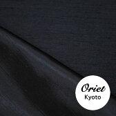 バックサテン シャンタン 生地 ブラック(黒)【ドレス,ワンピース,スカート,ジャケット,服地,】
