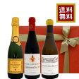 フランス ワインセット スパークリングワイン ハーフボトル ブルゴーニュ、コート・ドールの白ワイン コート・デュ・ローヌ、シャトー・ヌフ・デュ・パプの赤ワイン 375ml×3本